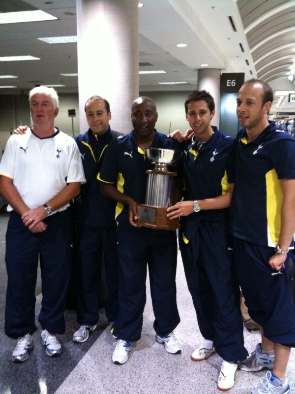 Myself (with a touch more hair) and the rest of the coaching staff after winning the Puma Cup In the US.