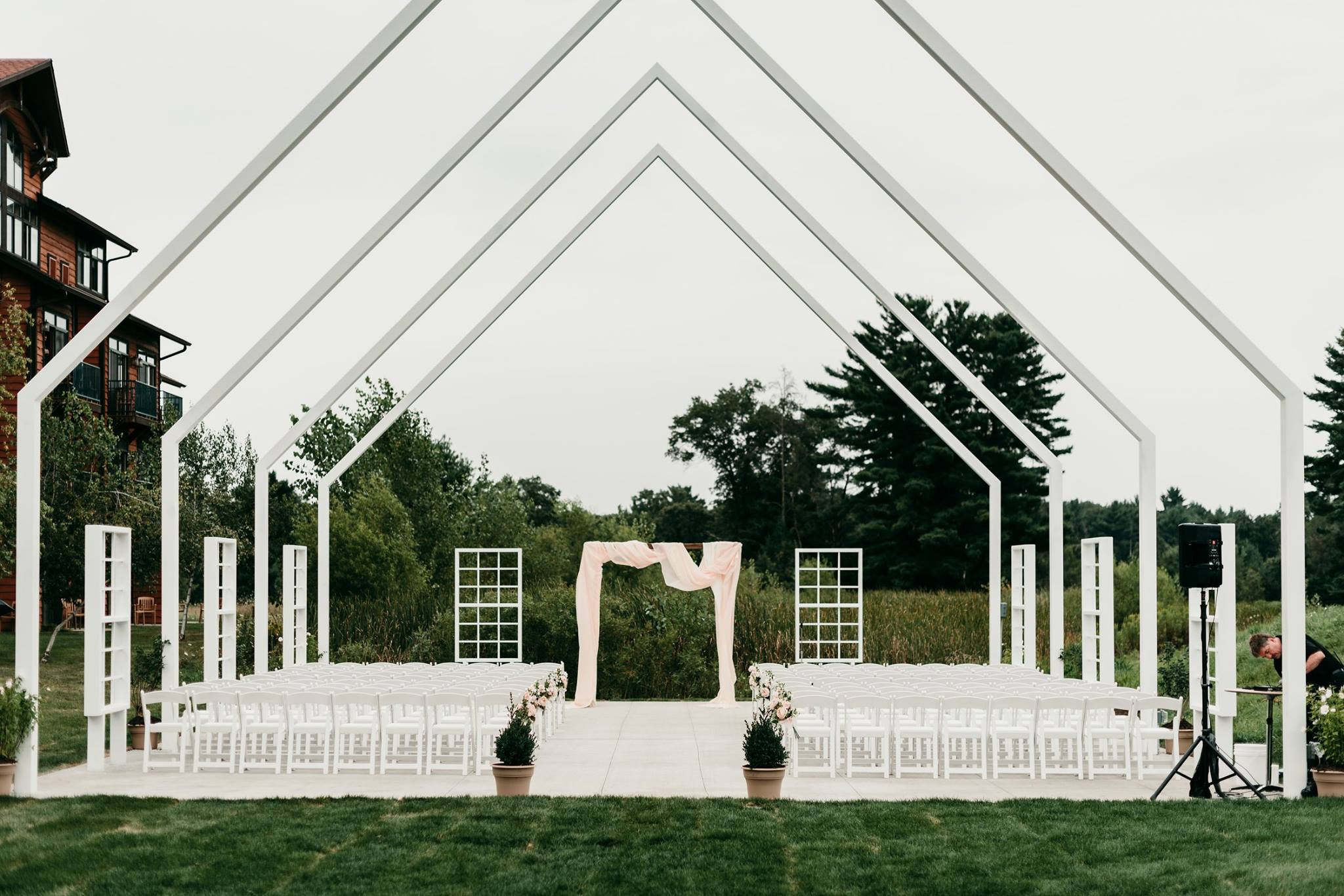 The Chapel at Chula Vista - The chapel layout could not get any better. It offers so much potential for wedding decor and keeps your guests close. Not to mention, it's location is right where all the fun happens!