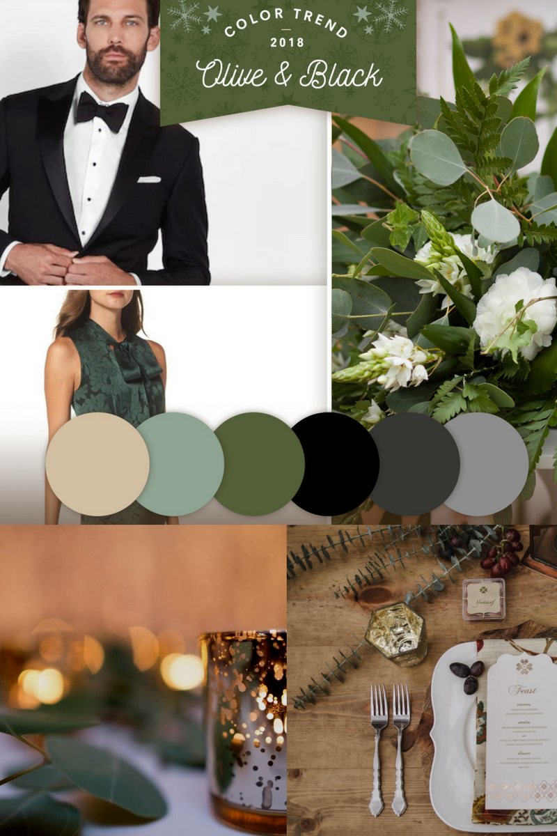 - This color trend has me dreaming of greenery. And the black and gold tones work perfect for setting the mood.