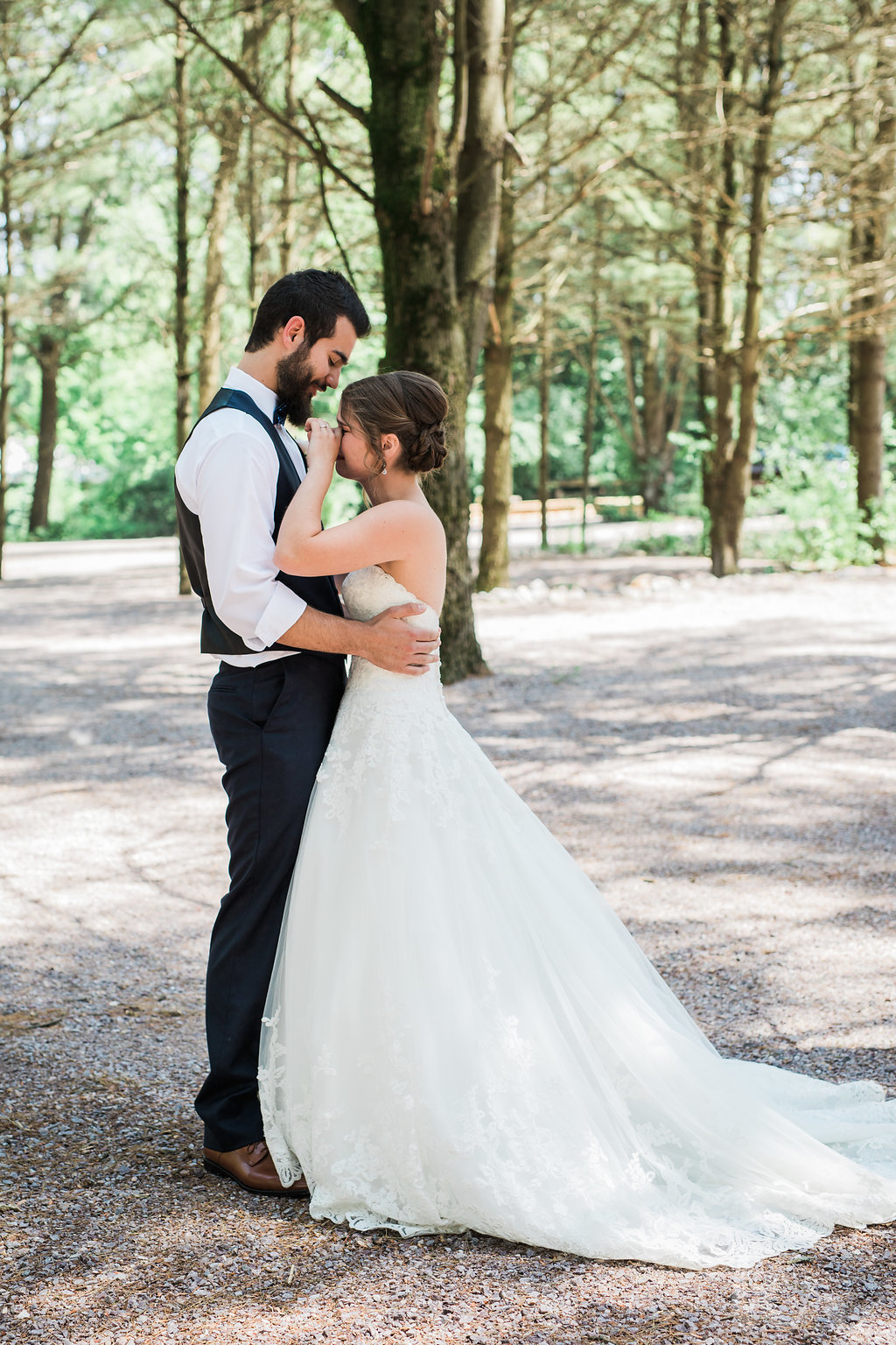 Reagan &Levi - The first look that brought everyone to tears...Photo: Katie Ricard Photography