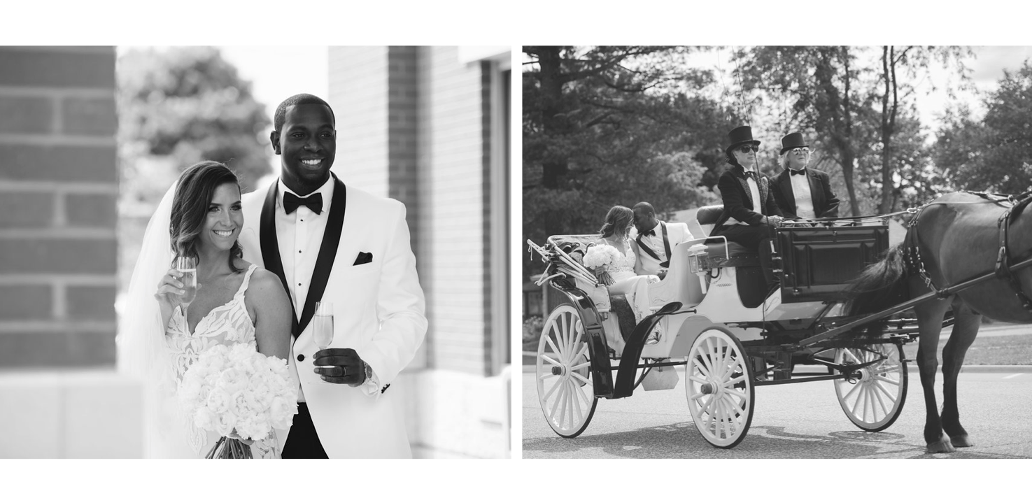 Maria &Delmarius   This guy surprised her with a horse and carriage... Plus if you look below these two wen't down in the book for celebrating in style! Look below!  Photo: Vicky Matteo Photography