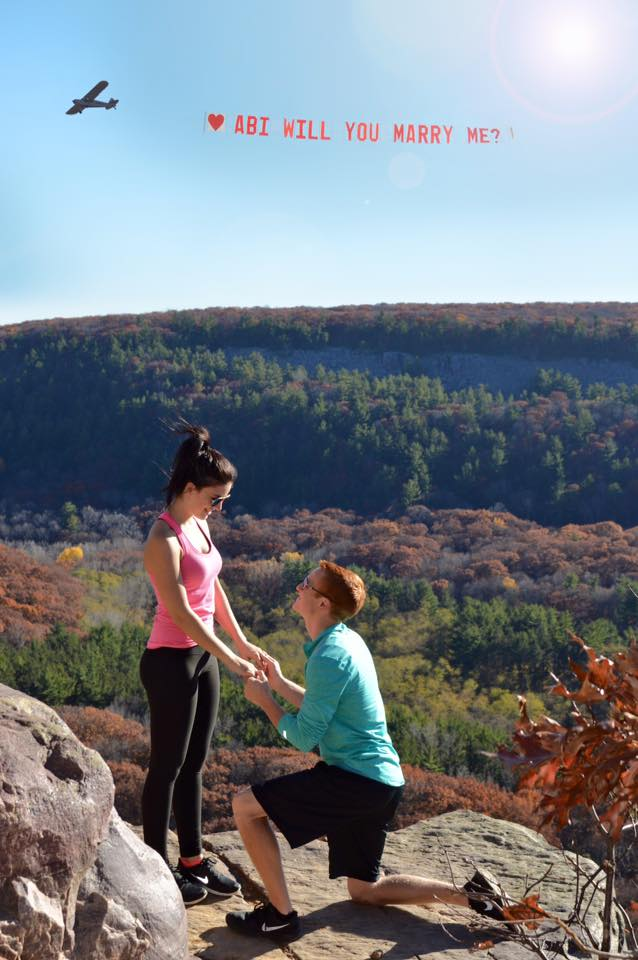 The Proposal - When Aaron had an epic proposal and then an even more epic wedding.Photo: East Elm Photography