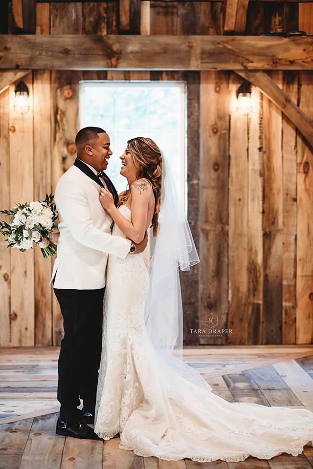 Taylor &Munir - The way Munir reacted when he saw Taylor at their new year's wedding...We wish we had audio.Photo: Tara Draper Photography