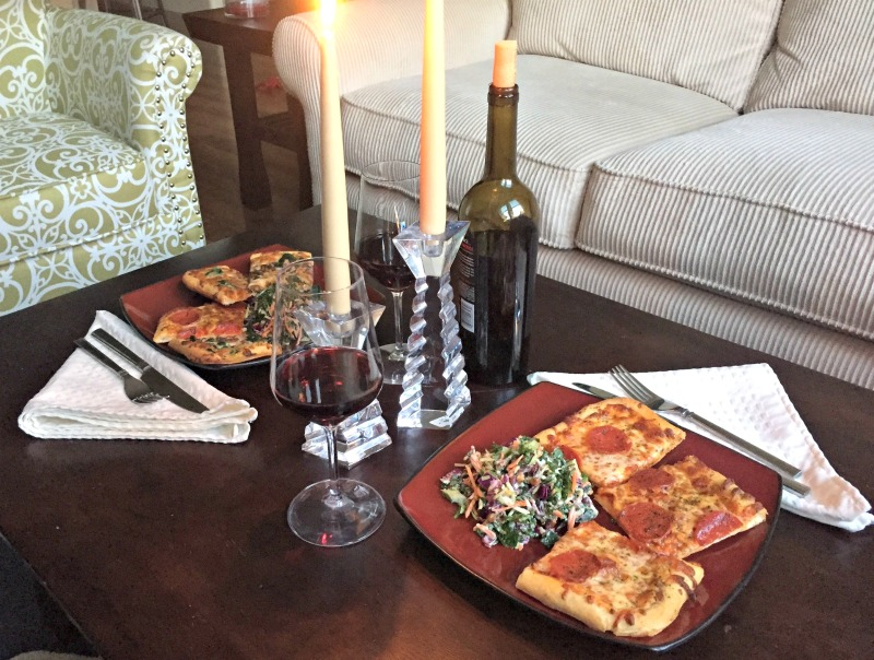 At Home Date Night - Cook a yummy meal together and put on a good movie. Sometimes when life is hectic, sitting on the couch is the best place to be.