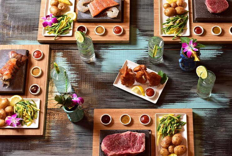 Hot Rocks - We love this interactive restaurant where you get to cook your meal yourself! It is a great experience, whether you are two adults or a family with kids.