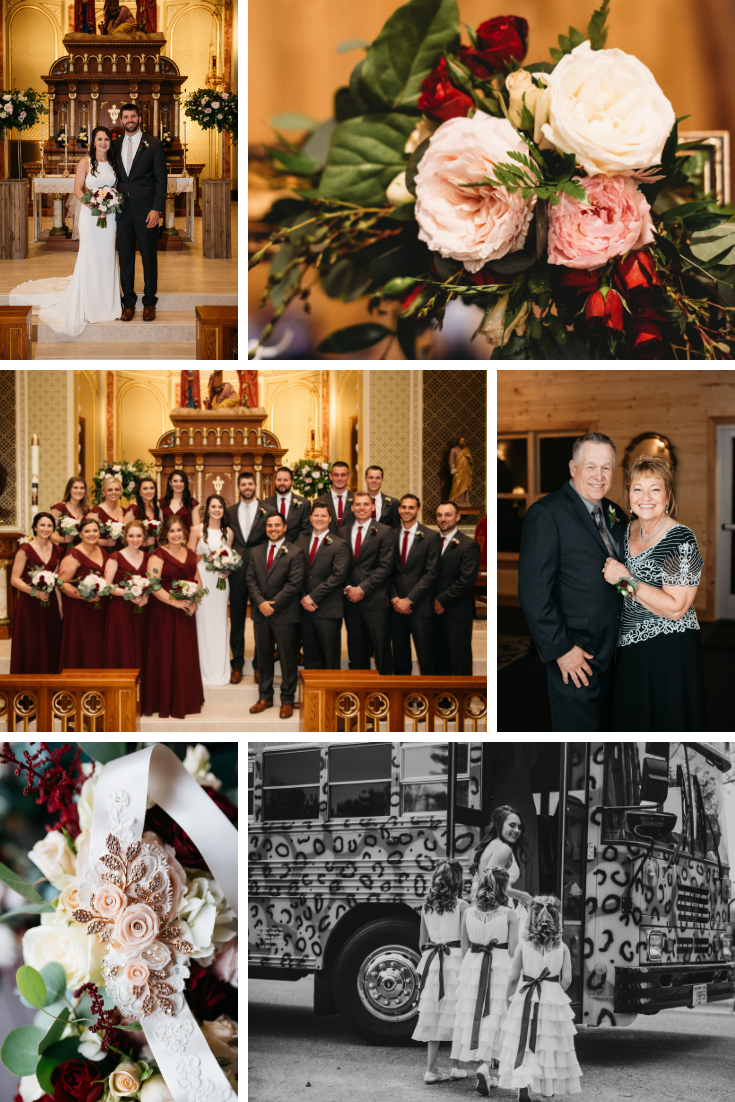 Wedding Party Neira Event Group Wisconsin Dells Wedding Flowers