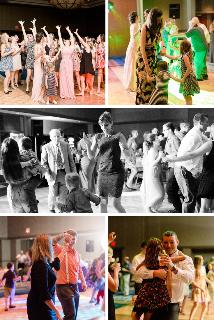 Neira Event Group Radisson Hotel & Conference Center Family Friendly Wedding Traditional Wisconsin Wedding Wedding Reception Extreme Entertainment