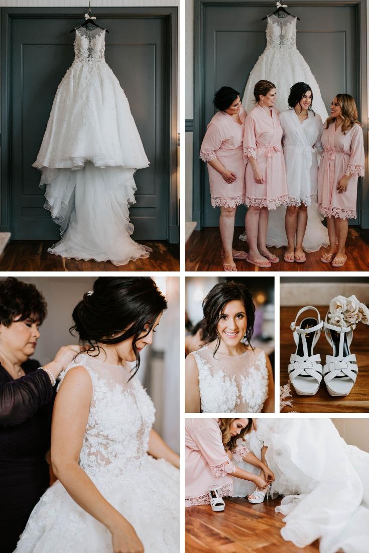 Madison wedding girls getting ready