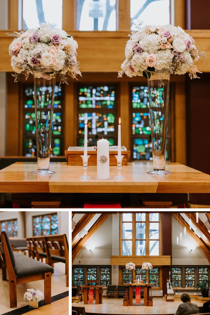 Madison church wedding details
