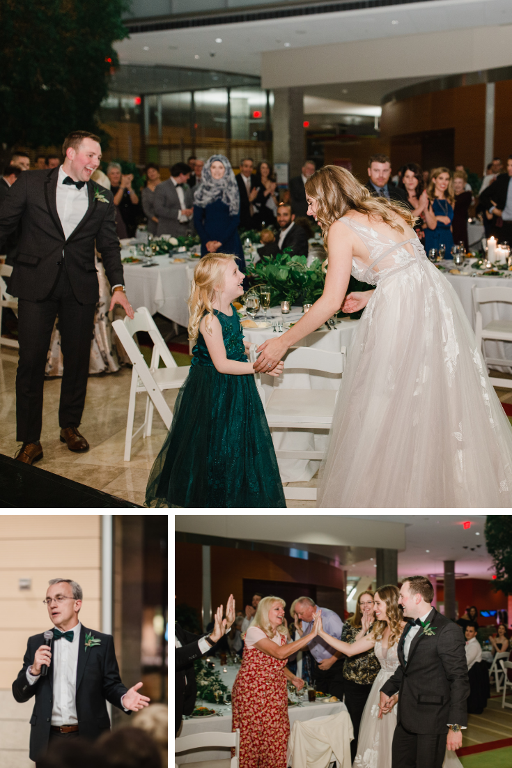 Madison wedding reception fun at Discovery Building