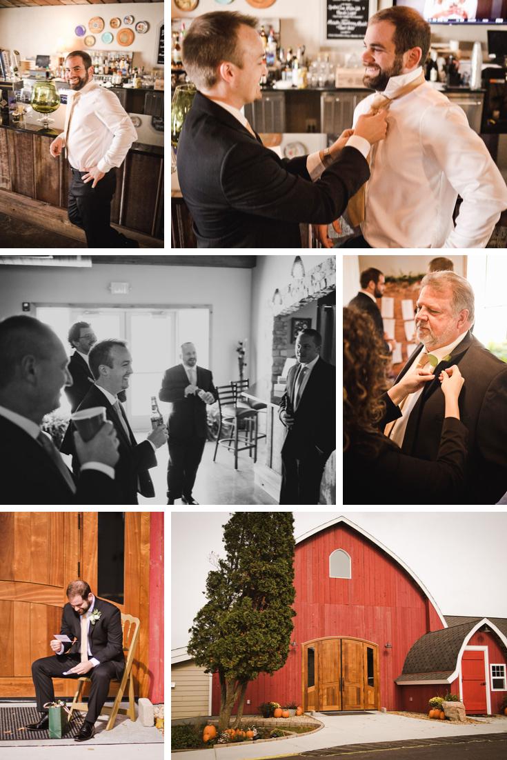 groom getting ready Wisconsin Dells Wedding
