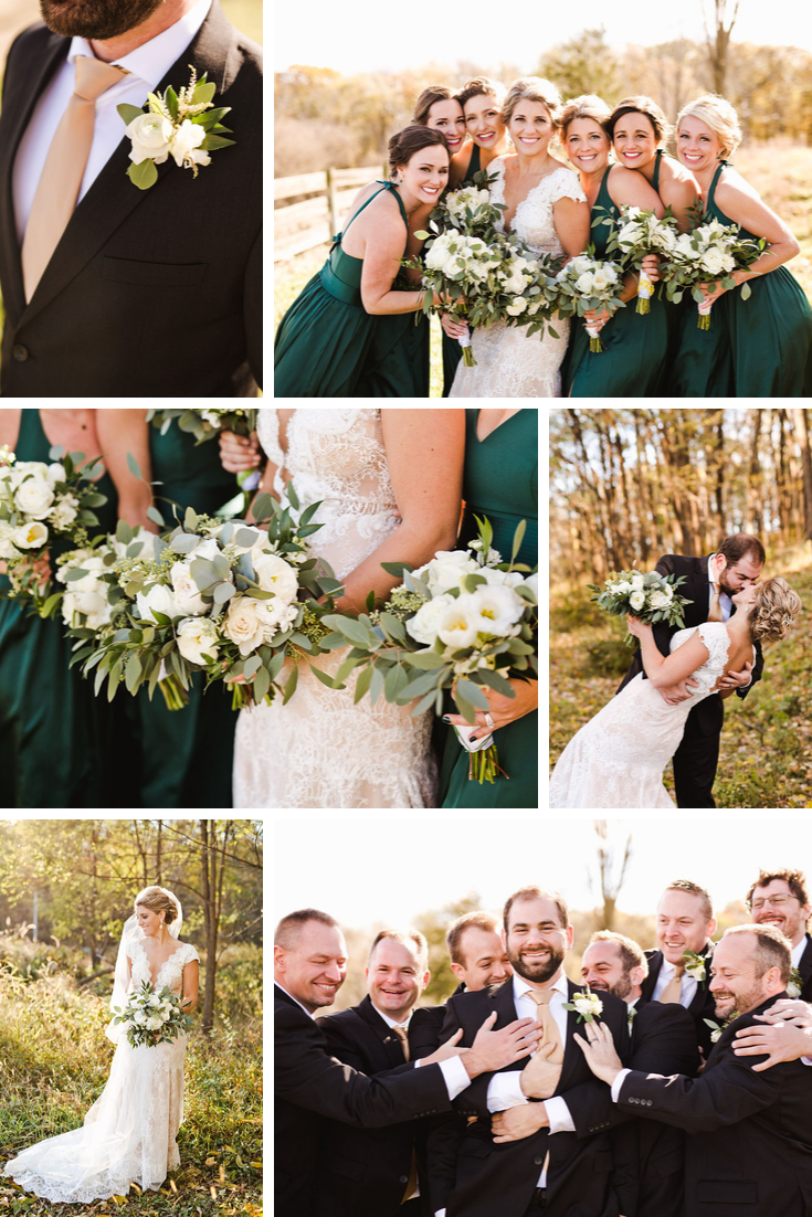 Wedding party portraits Wisconsin Dells Wedding