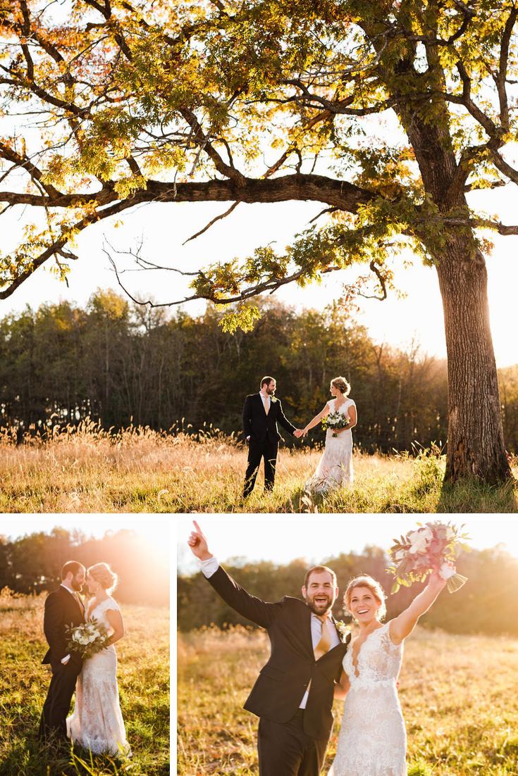 Bride and groom portraits Wisconsin Dells Wedding