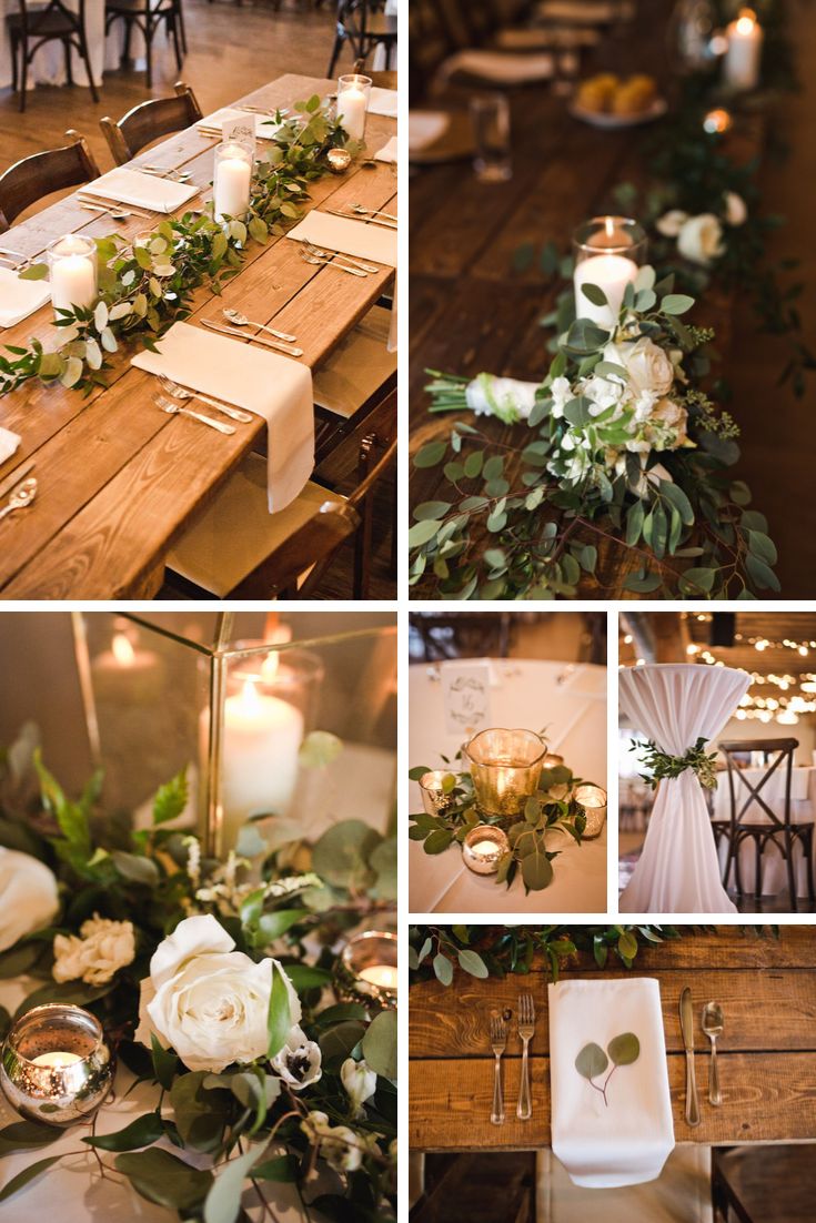 Reception details Wisconsin Dells Wedding
