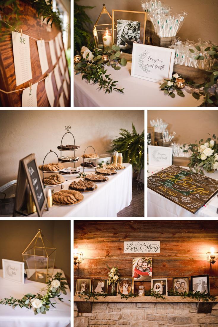 Wisconsin Dells Wedding reception details Generations Weddings Photography