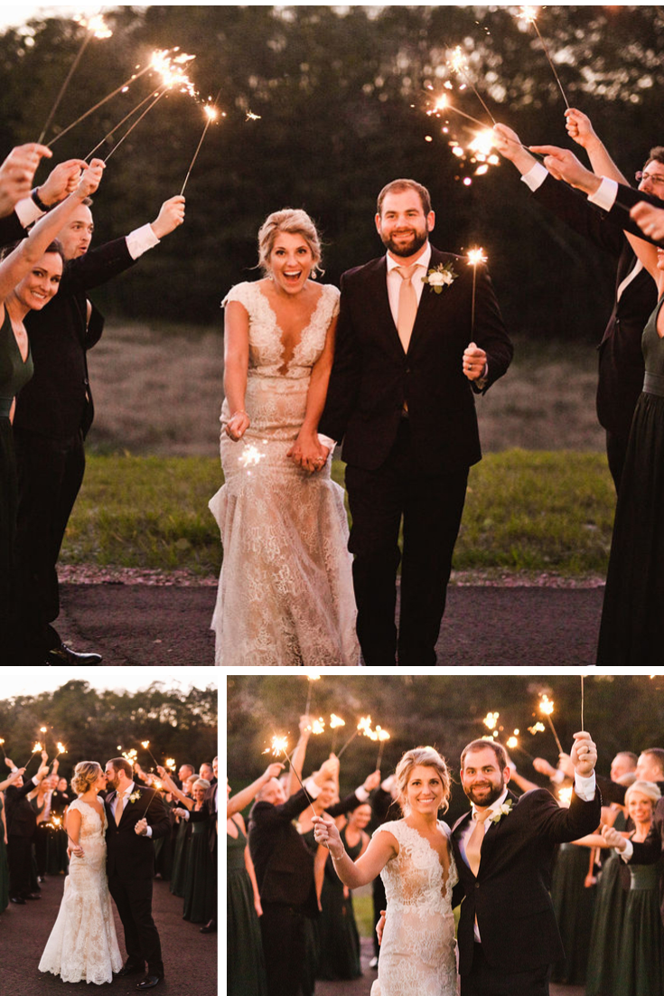 Sparkler Exit Wisconsin Dells Wedding