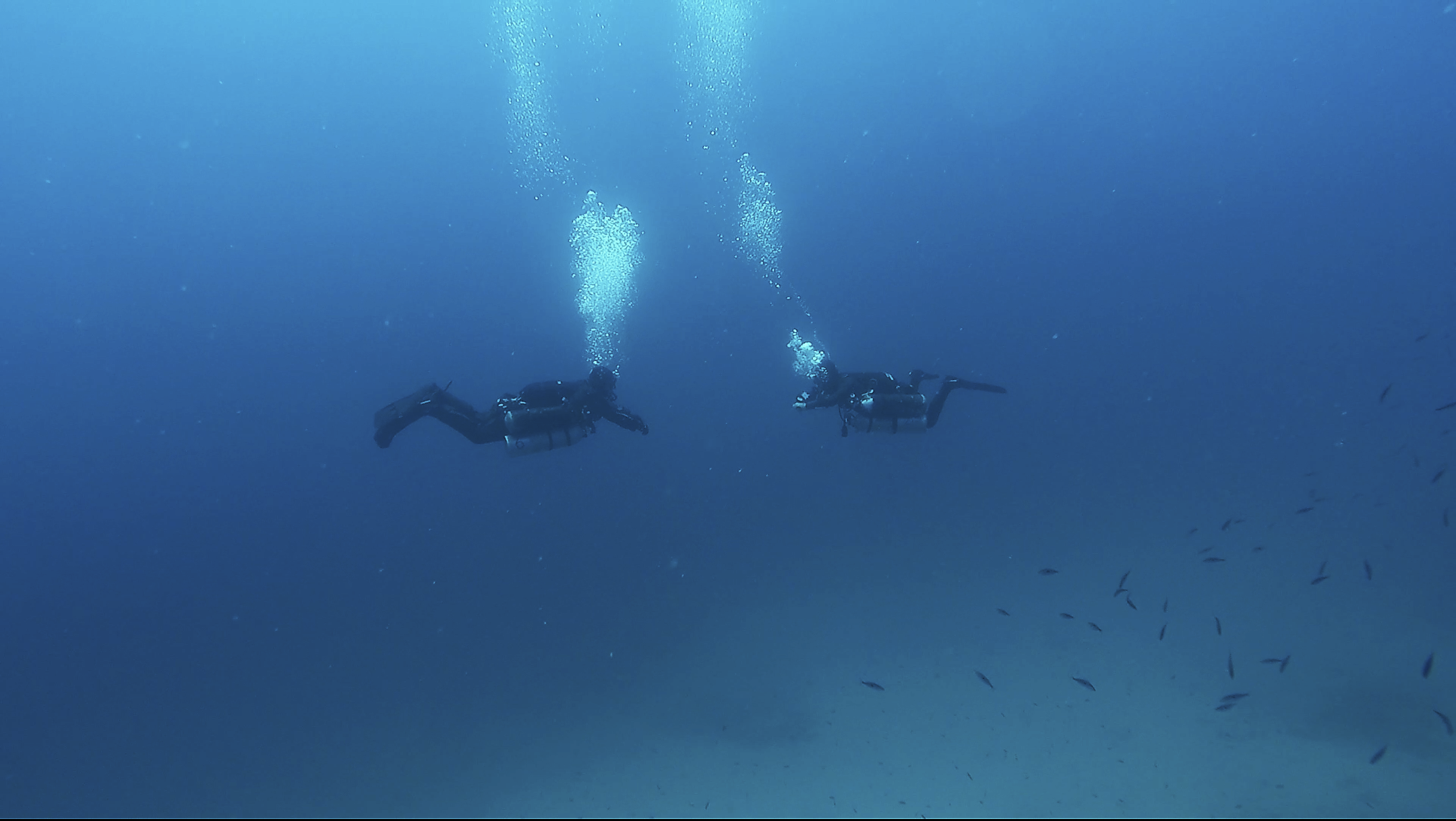 Dive Team Completing a Blue Water Decompression Ascent