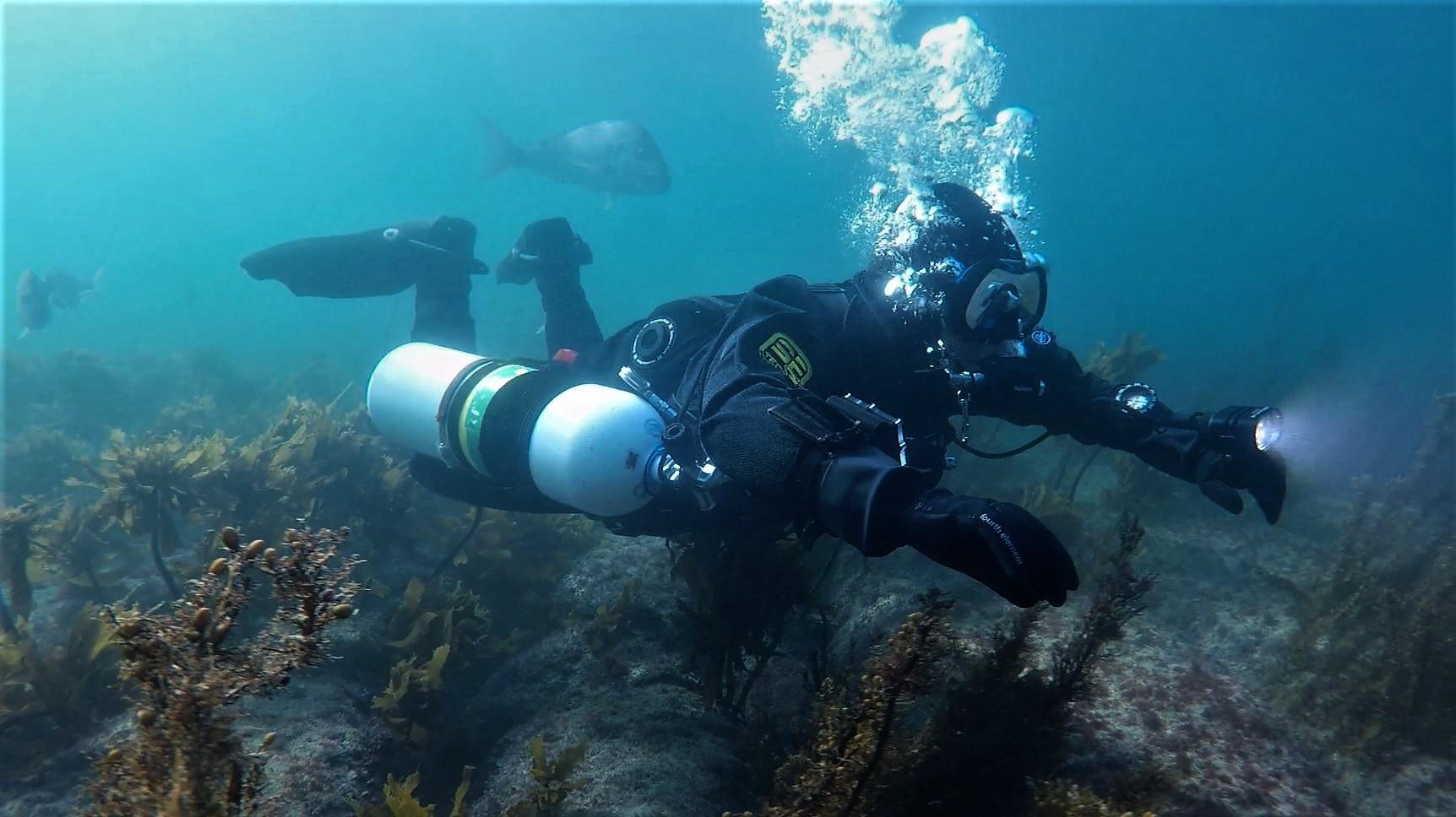 Sidemount Diver - Trim, Balance, Stability