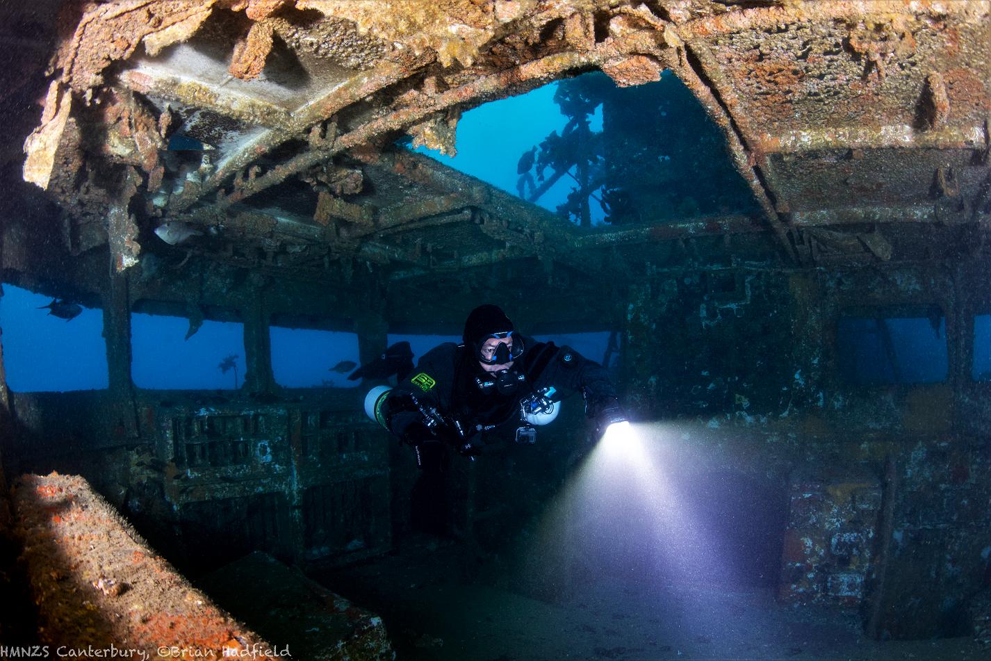 Sidemount Diving Canterbury Wreck Bridge