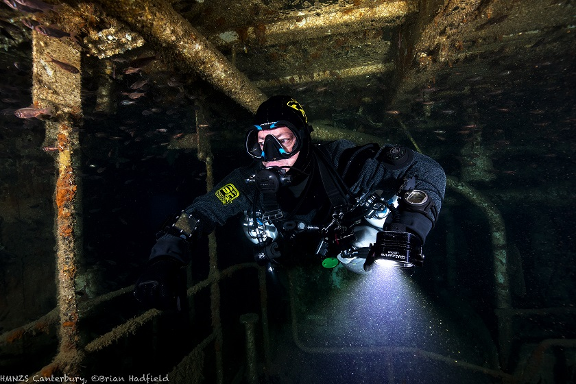 Sidemount Diving Canterbury Wreck Engine Room