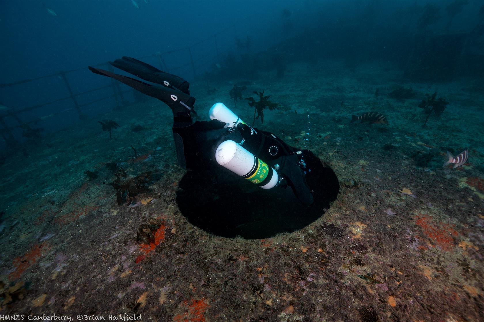 Sidemount Diving Canterbury Wreck Gun Bay