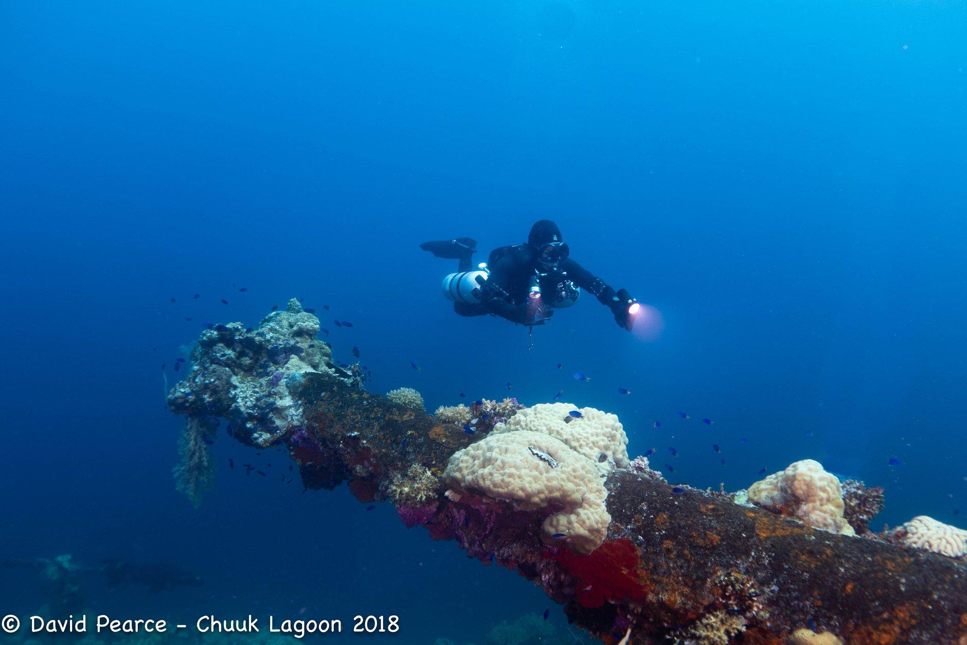 Bow Gun Fujikawa Maru, Truk Lagoon