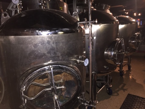 Tanks before crating at Armstrong Brewing