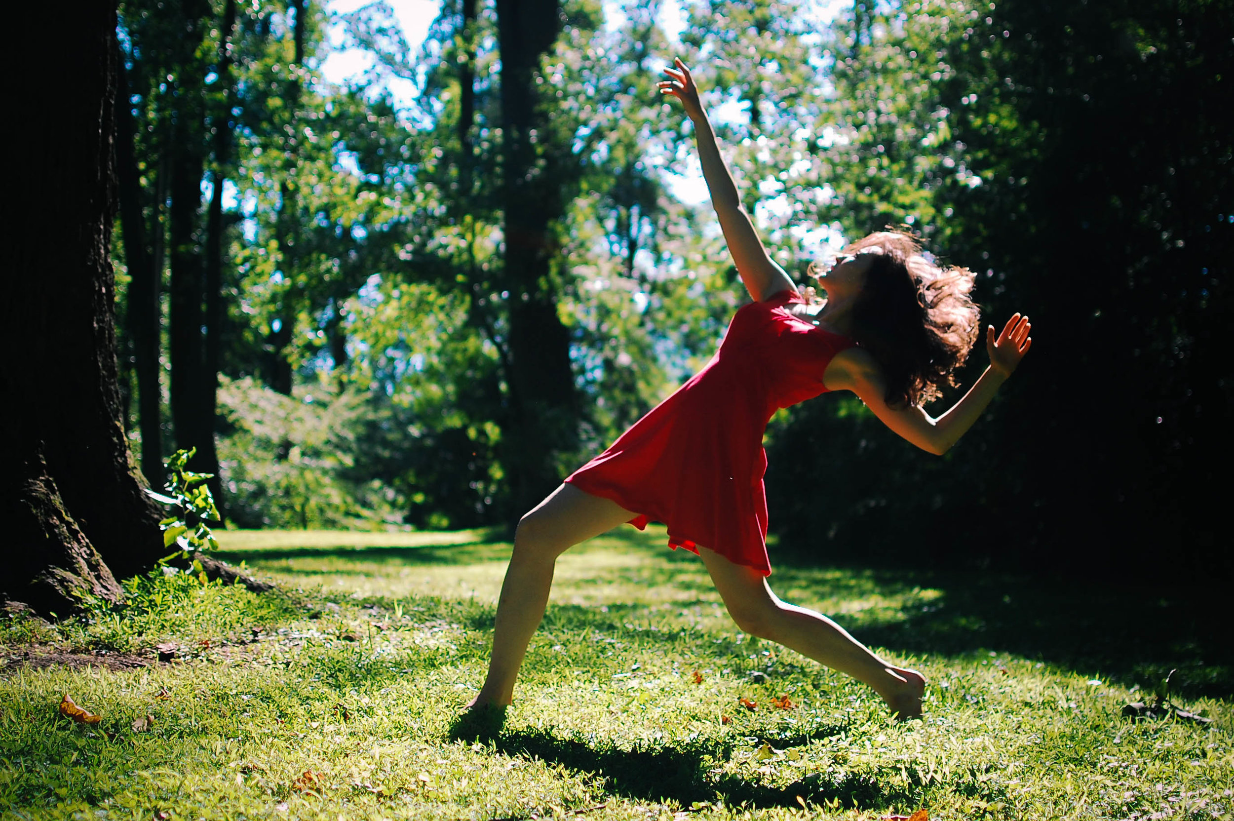 J. dances in the wind in Cherry Hill Park