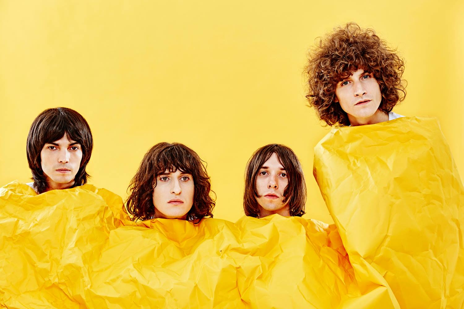 Temples latest band photo which is an ode to Pink Floyd. By Ed Miles.