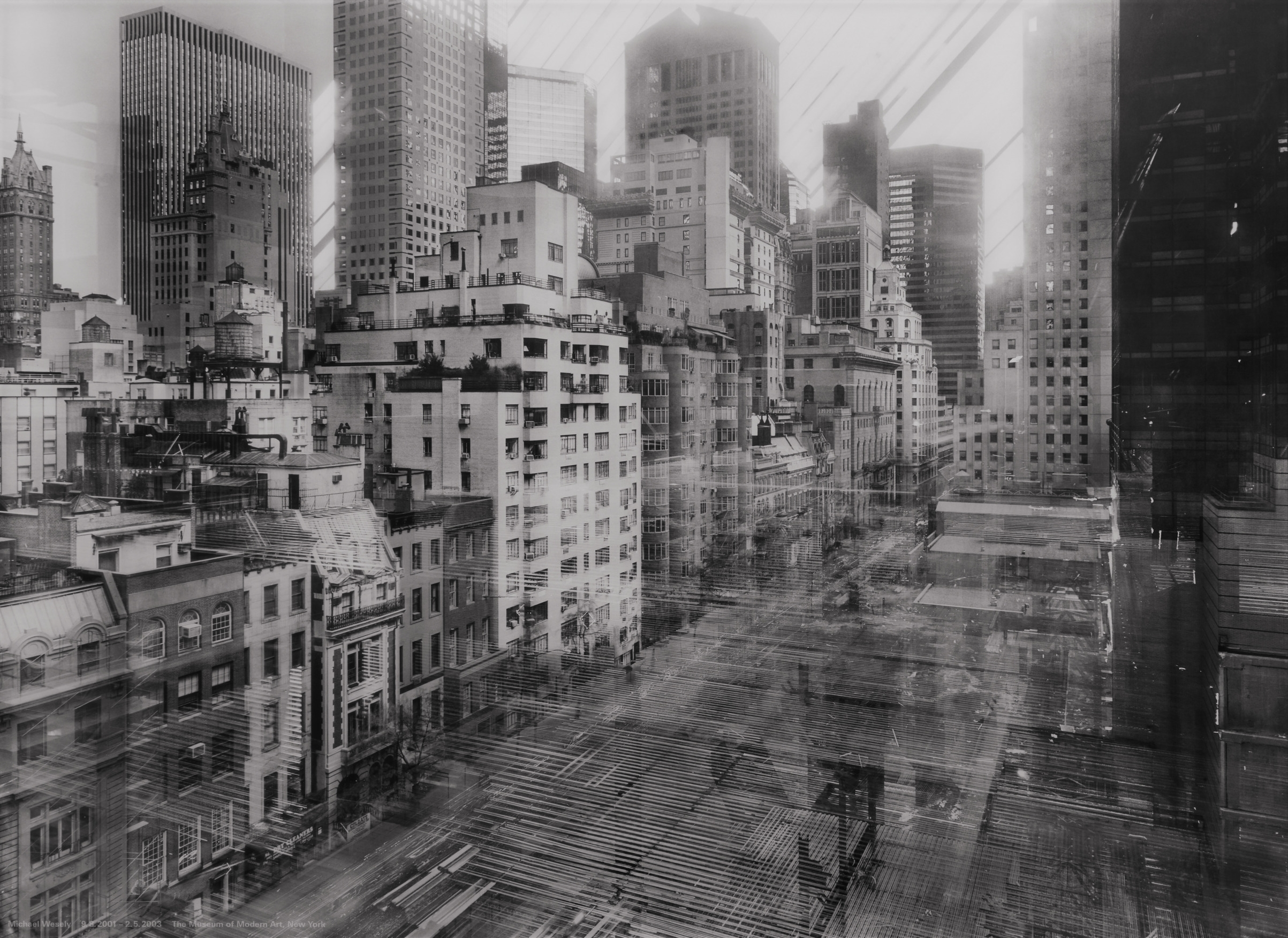 "Michael Wesely.  9 August 2001 - 2 May 2003 The Museum of Modern Art, New York . 2001-03. Chromogenic color print, 40 3/16 x 55 1/8"" (102 x 140 cm). The Museum of Modern Art, NY. Purchase. © 2016 Artists Rights Society (ARS), New York/VG Bild-Kunst, Bonn"
