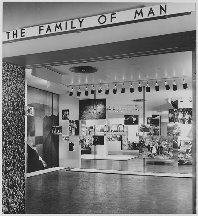 Installation view from the exhibition Family of Man, The Museum of Modern Art, New York, January 24–May 8, 1955. Edward Steichen Archive, V.B.i. The Museum of Modern Art Archives, New York. Photo: Ezra Stoller