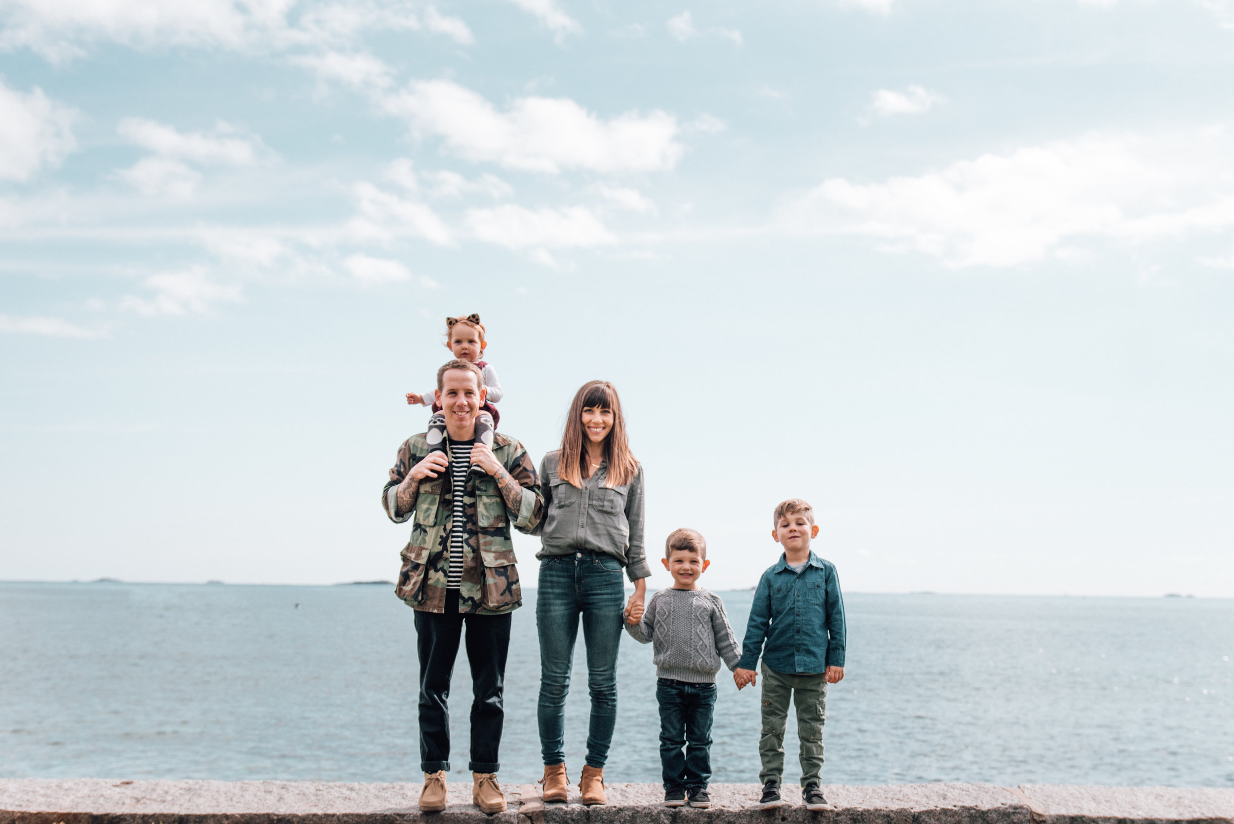 Boston Family Session Near the Ocean