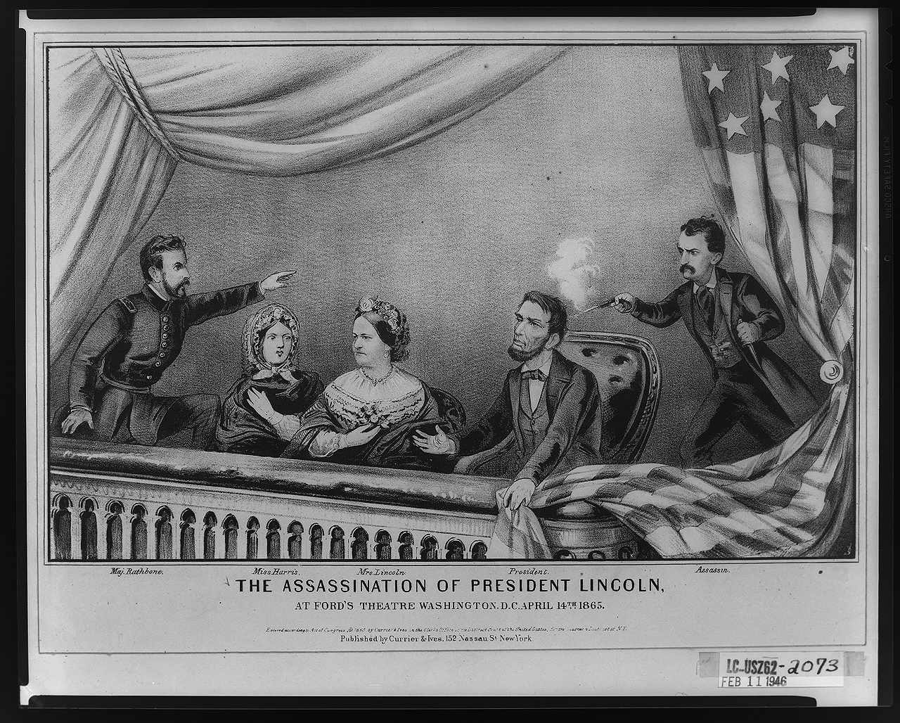 Currier & Ives Illustration of the Lincoln Assassination