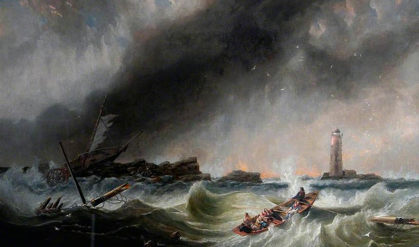 The rescue of the crew and passengers of the SS Forfarshire, by Robert F. Watson