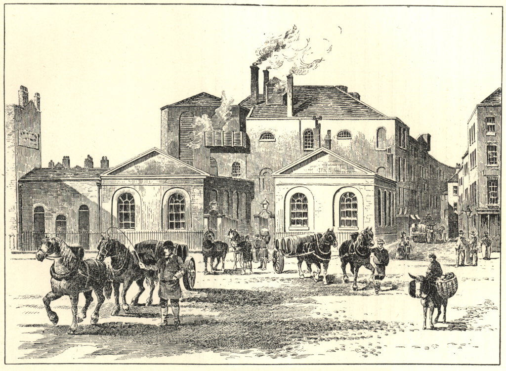 Horse Shoe Brewery in Tottenham Court Road, 1830