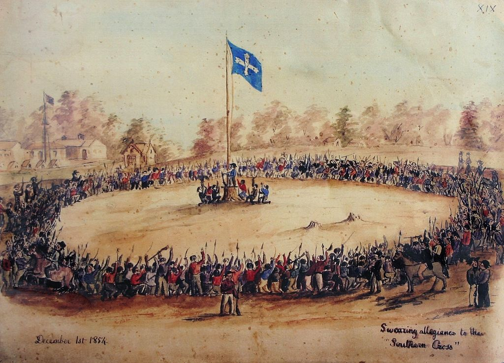 Swearing allegiance to the Southern Cross, by Charles Doudiet