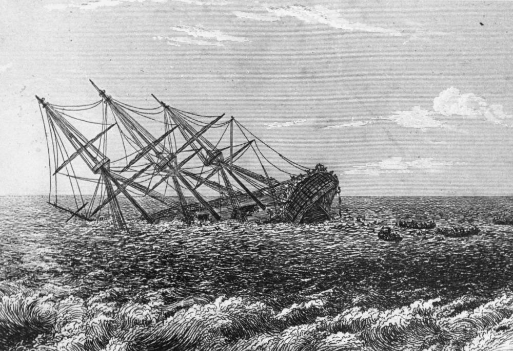 HMS Pandora, by Robert Batty (1831)