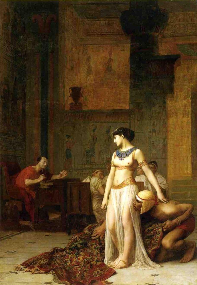 Cleopatra and Caesar, by Jean-Léon Gérôme