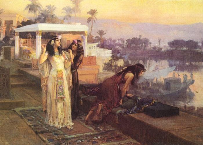 Cleopatra on the Terraces of Philae, by Frederick Arthur Bridgman