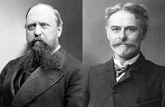 Othniel Charles Marsh (right) and Edward Drinker Cope (left)