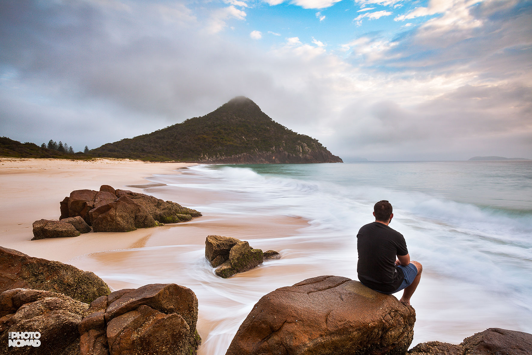Me enjoying Zenith Beach