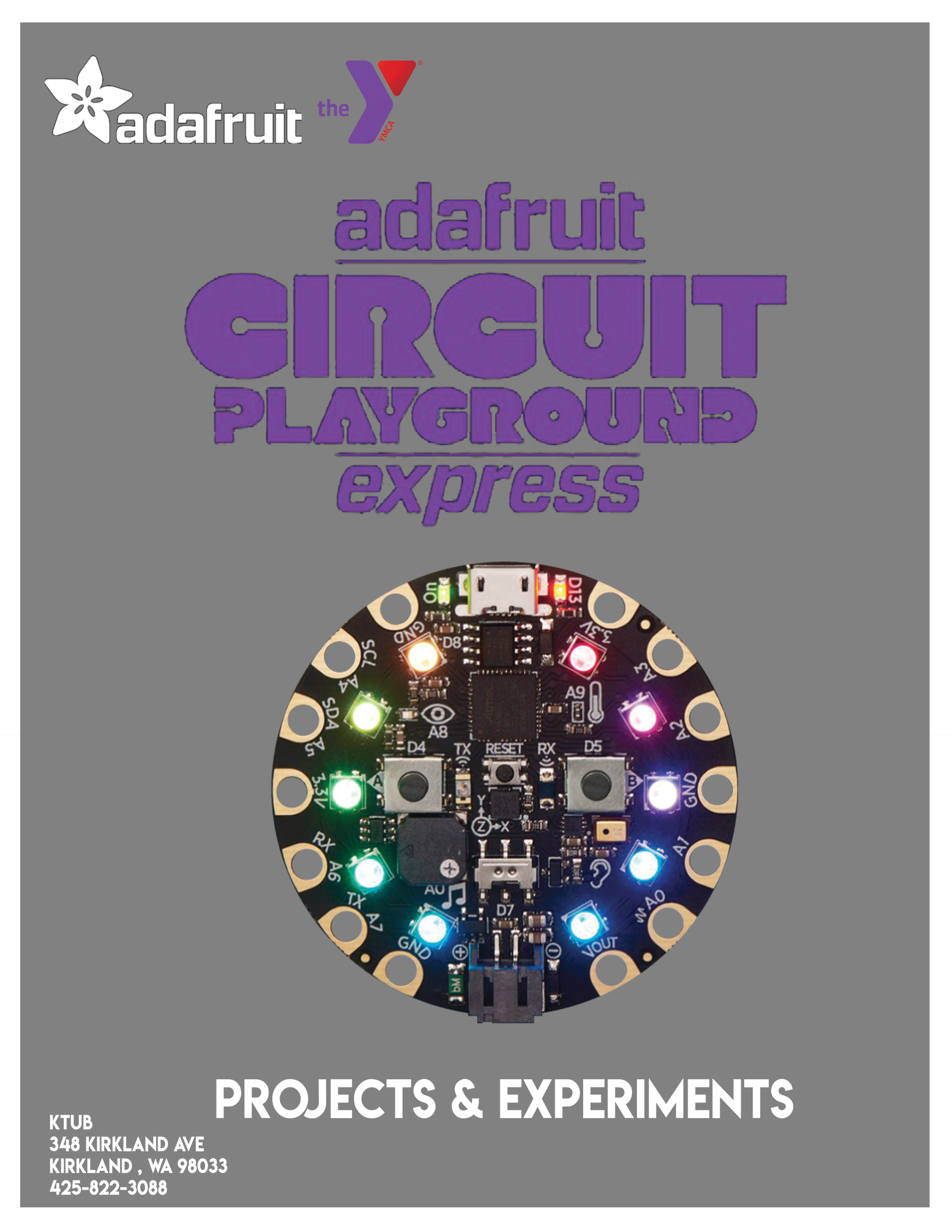 Programming With Circuit Playground Express - Drop in whenever you want and learn how to create magic wands, games and even your very own keyboard using our circuit boards! The sky is the limit as to what you can do, and by following along our easy to use guides, you can go from beginner to pro in no time at all!