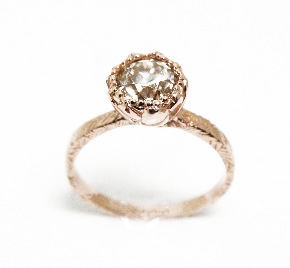 Engagement Ring Diamond set in 14k rose gold