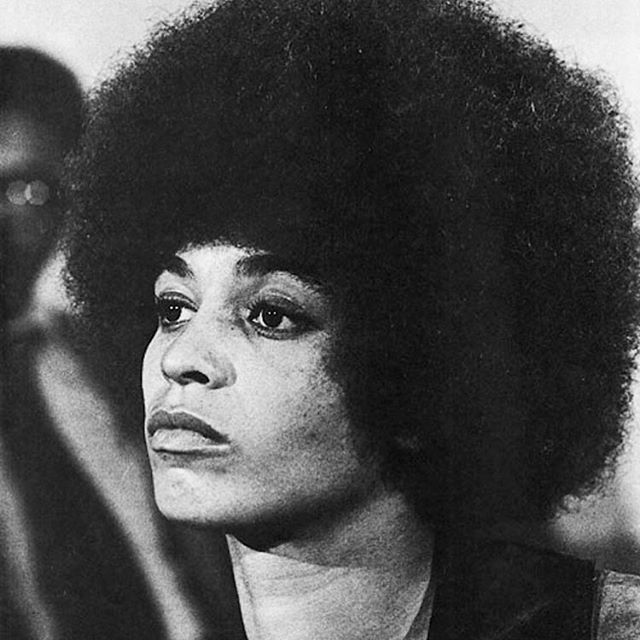 ❤️🖤💚 Angela Yvonne Davis, political activist, author, professor, and Communist party member, was an international symbol of the black liberation movement of the 1960s and 1970s.