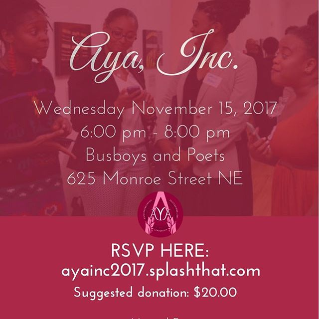 For 3 years we have been transforming the lives of young women of color through intergenerational mentorship and career preparation workshops. We look forward to having you join us for our annual fundraiser which will be held at Busboys and Poets on 11/15. Click on the link in our bio to rsvp and/or donate.