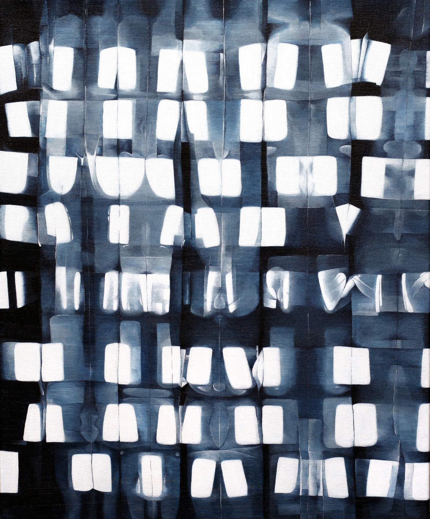 Across the Iron Road , 2012 Acrylic on canvas 22 x 18 inches