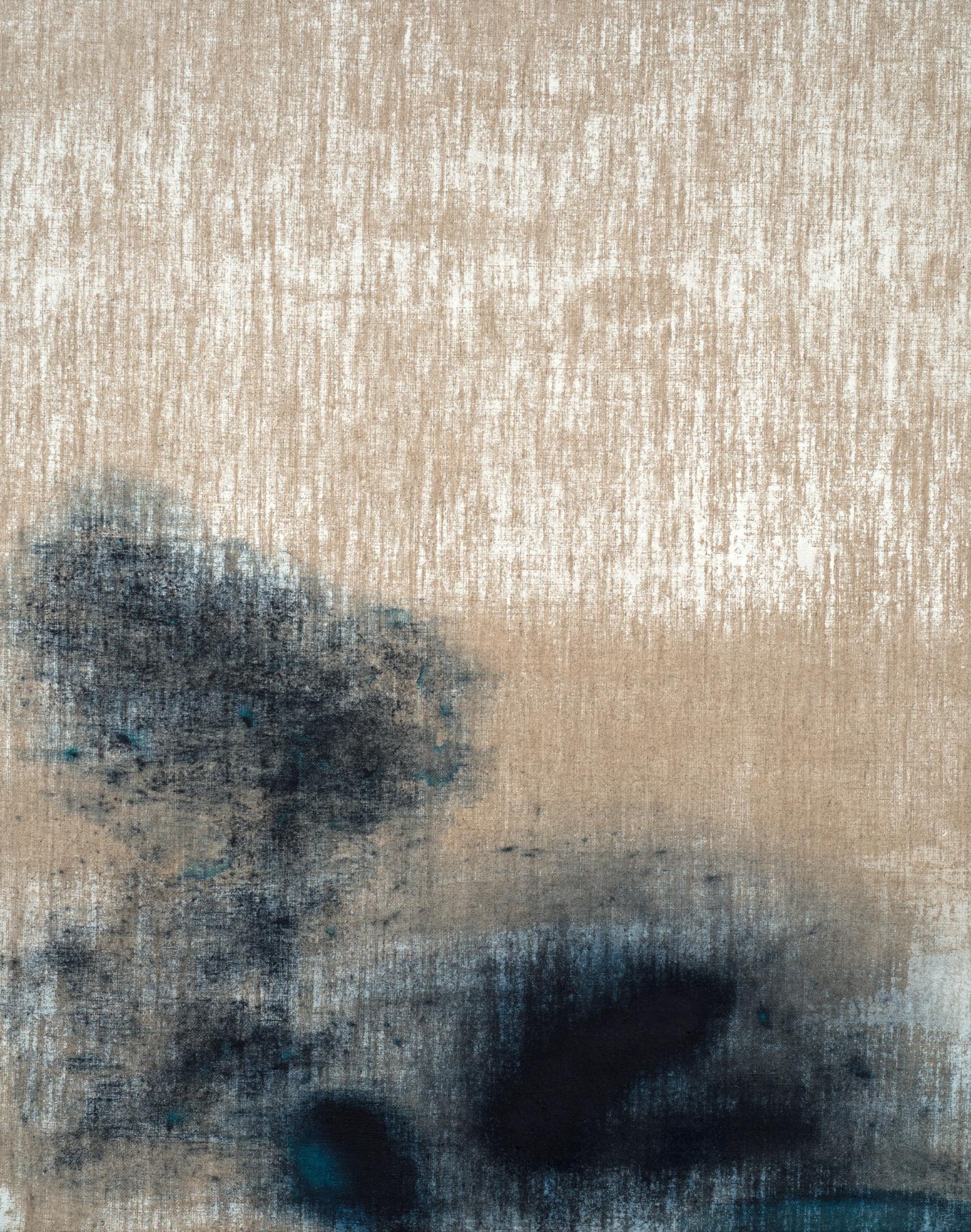 Untitled (Genuine Indigo) , 2017 Indigo pigment and acrylic on linen 20 x 16 inches