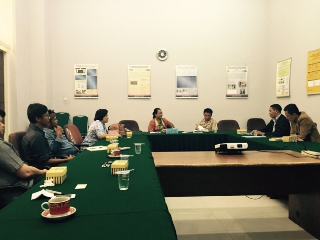 Meeting among Wadah Foundation, LPPM-UNPAR and the Village Head of Arjasari at Campus of UNPAR in Bandung - September 30, 2015