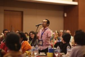 Zhariff Mohammad dari Wadah Malaysia, membagi pengalamannya untuk  memotivasi para remaja