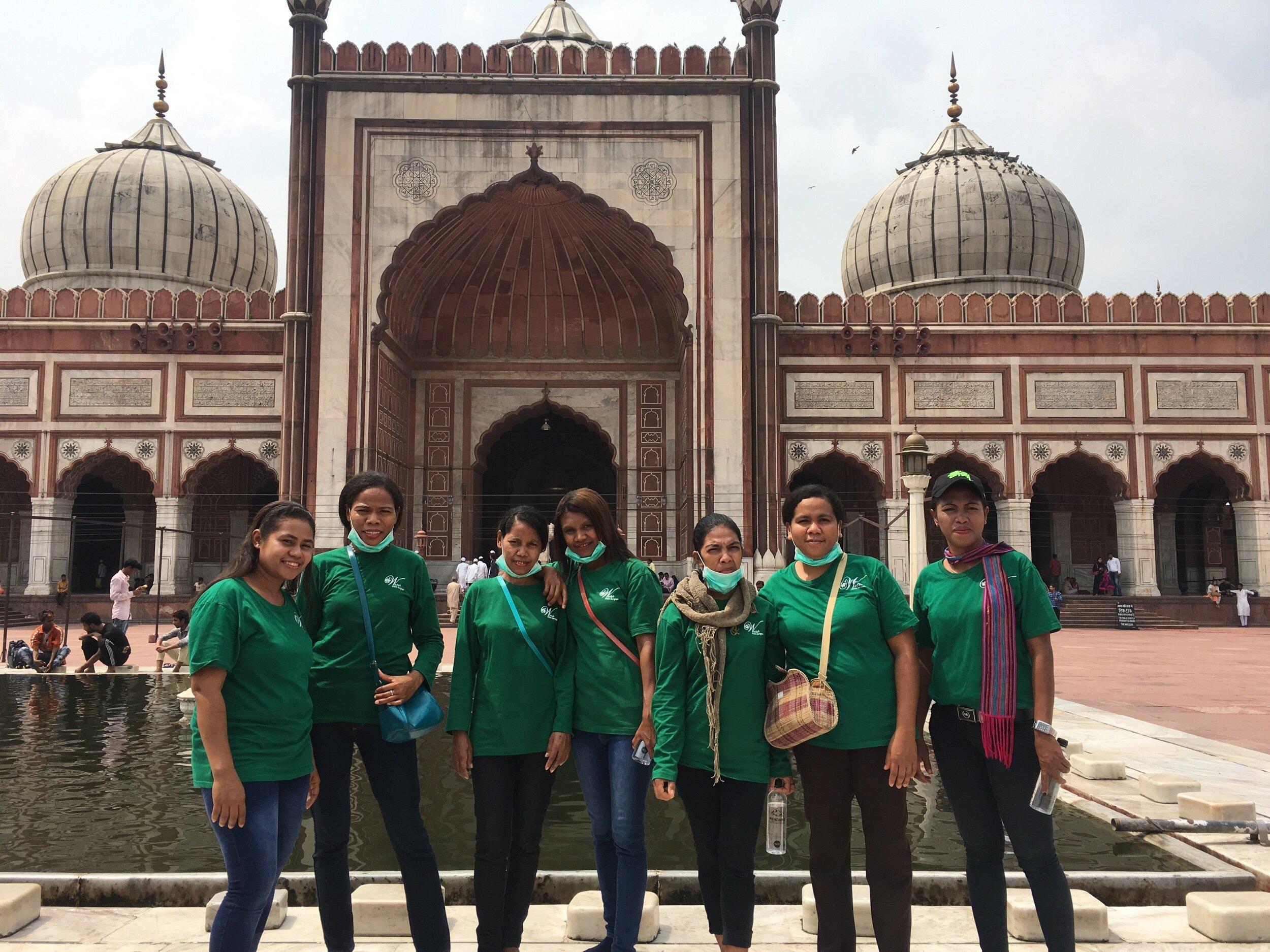 Solar mamas batch 4 arrive in India, L-R : Florida Teang, Yohana Tawa, Albina Bai, Ludgardis Tibu, Elisabeth Ndaru, Marselina Nena, Paulina Toyo